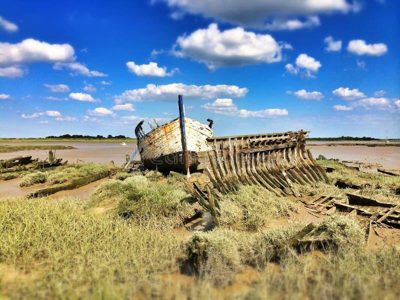 Gesloopt schip stock foto's
