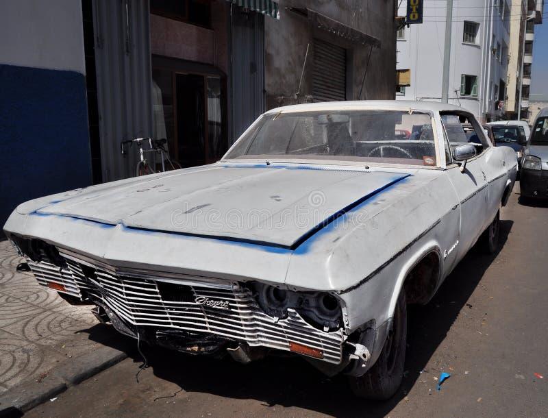 Gesloopte auto royalty-vrije stock afbeelding