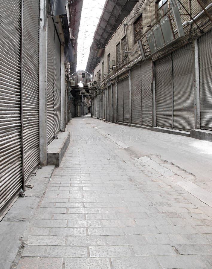 Gesloten Bazaar stock fotografie