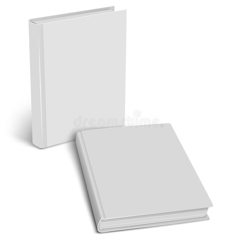 Gesloten boekmodel Lege dekking vector illustratie