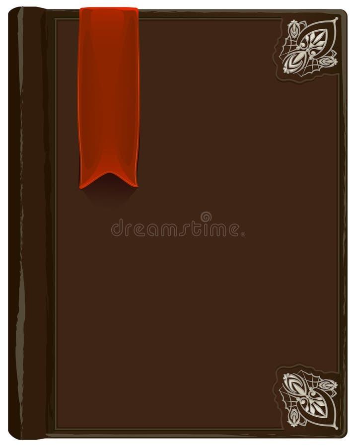 Gesloten bruin boek met referentie vector illustratie