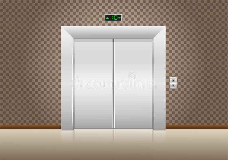 Gesloten de deuren van de lift royalty-vrije illustratie
