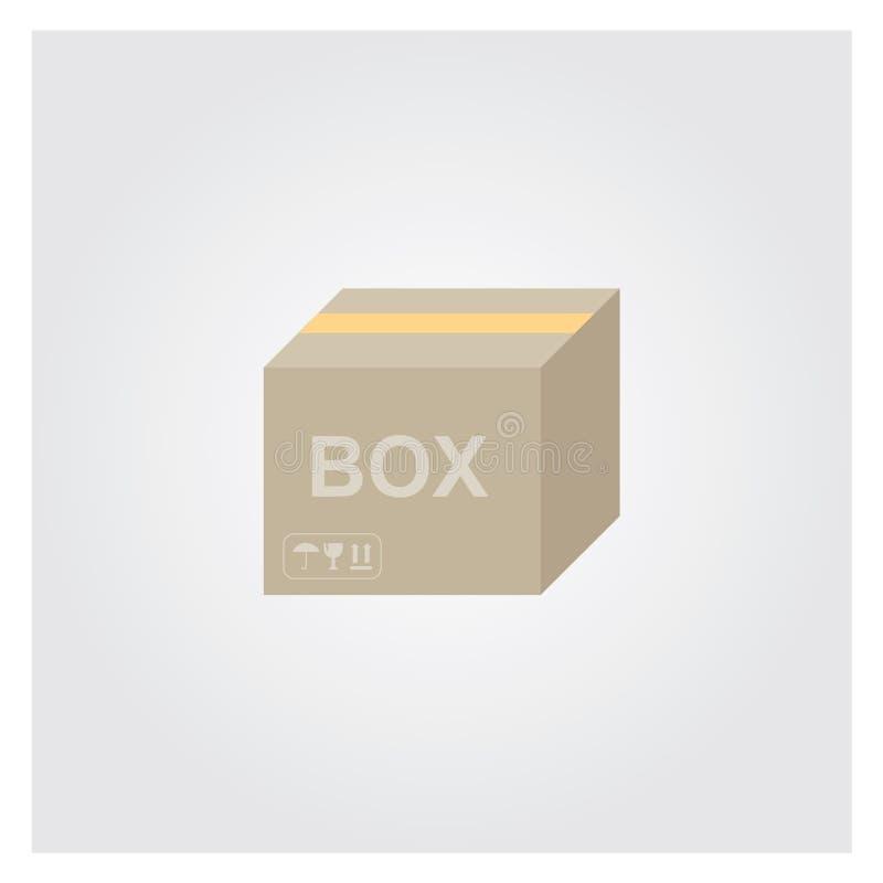 Gesloten de doos van het karton stock fotografie