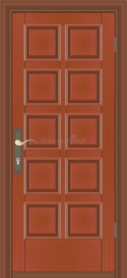 Gesloten deur stock illustratie