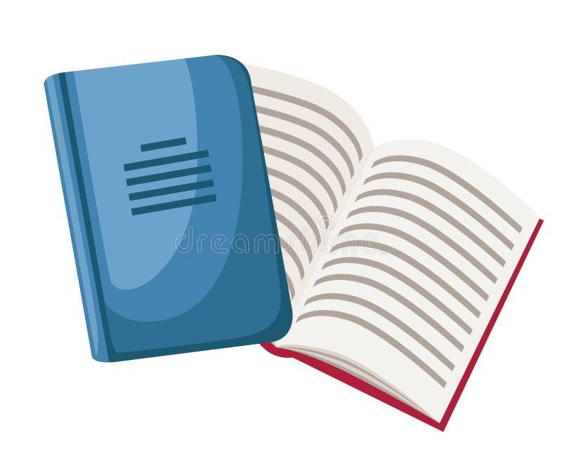 Gesloten en geopende notitieboekjes Het pictogram van het beeldverhaalbureau Vlakke VectordieIllustratie op Witte Achtergrond wor vector illustratie