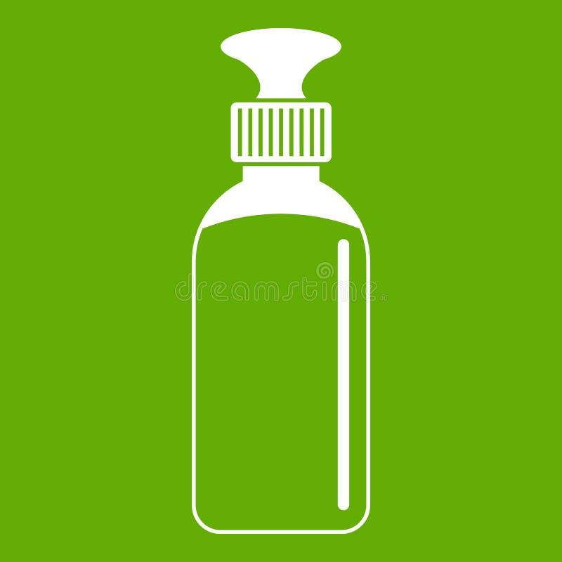 Gesloten groen flesjepictogram vector illustratie