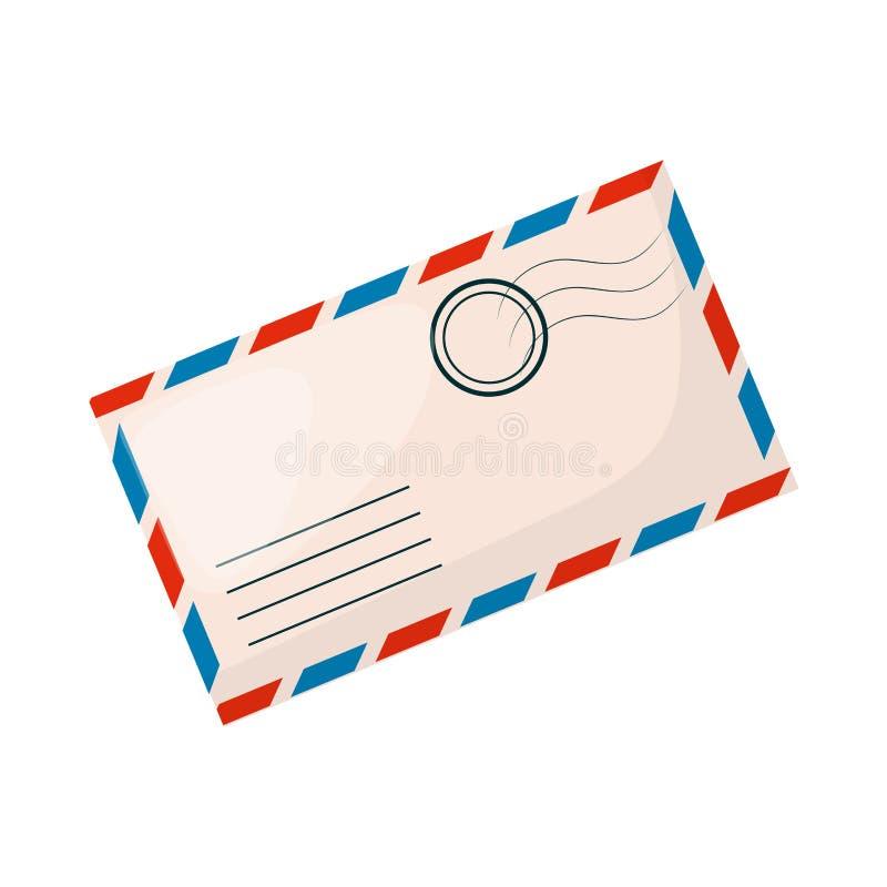 Gesloten het document van de brievenenvelop documentverschaffing van correspondentie of bureaudocumenten vectorillustratie vector illustratie