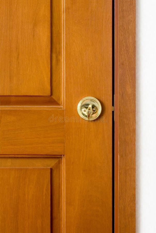 Gesloten houten deur stock foto's