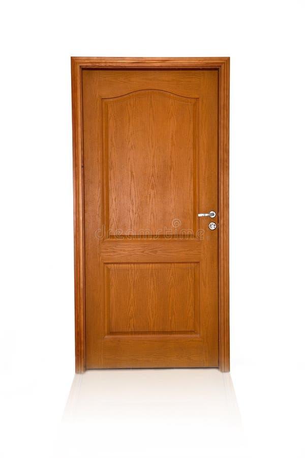 Gesloten houten geïsoleerdes deur royalty-vrije stock fotografie