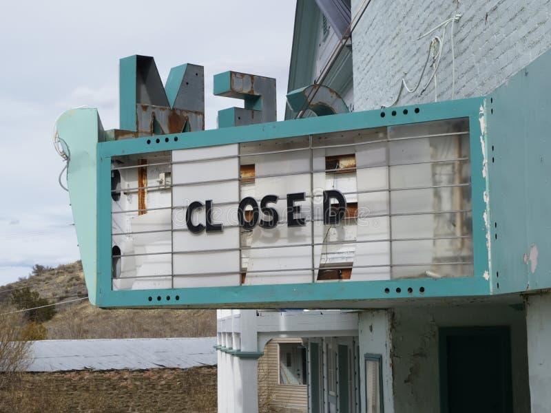Gesloten theater stock afbeelding