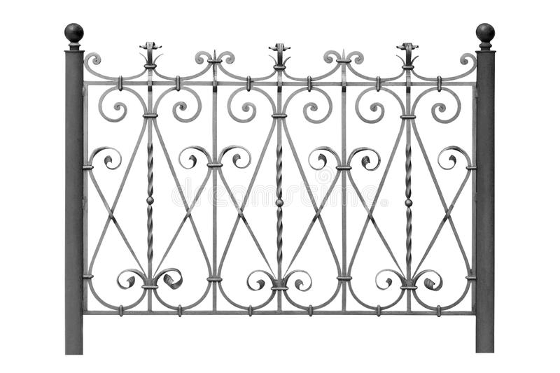 Gesmede omheining. royalty-vrije stock afbeeldingen