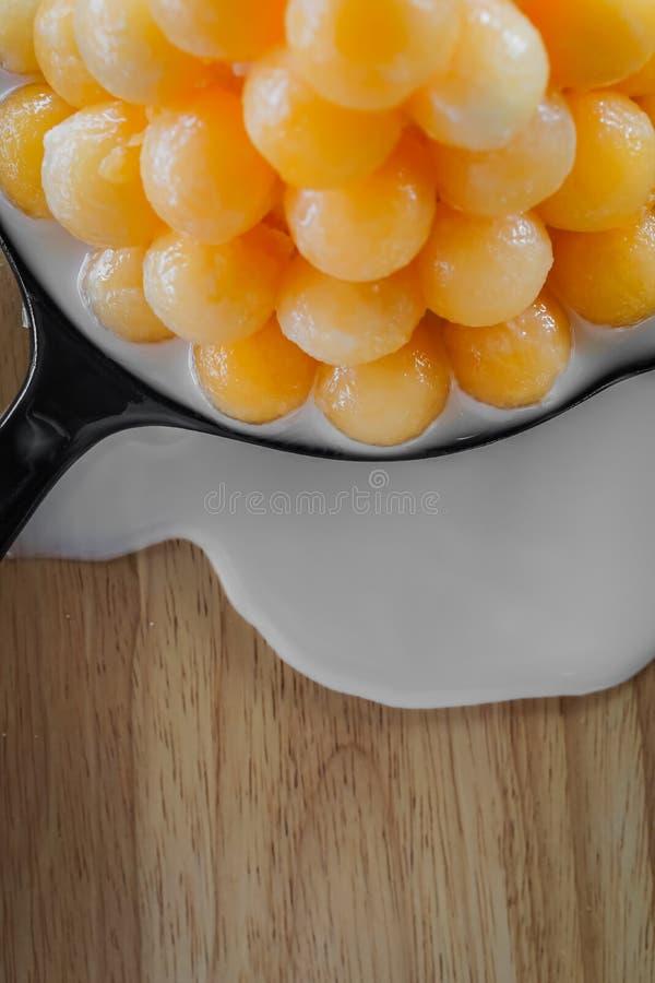 Gesmolten Bingsu-Meloen stock foto