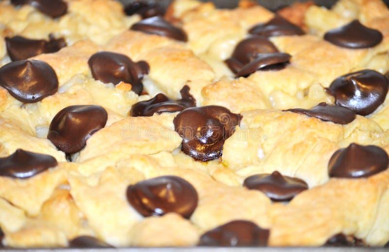 Gesmolten chocoladeschilfers royalty-vrije stock foto's