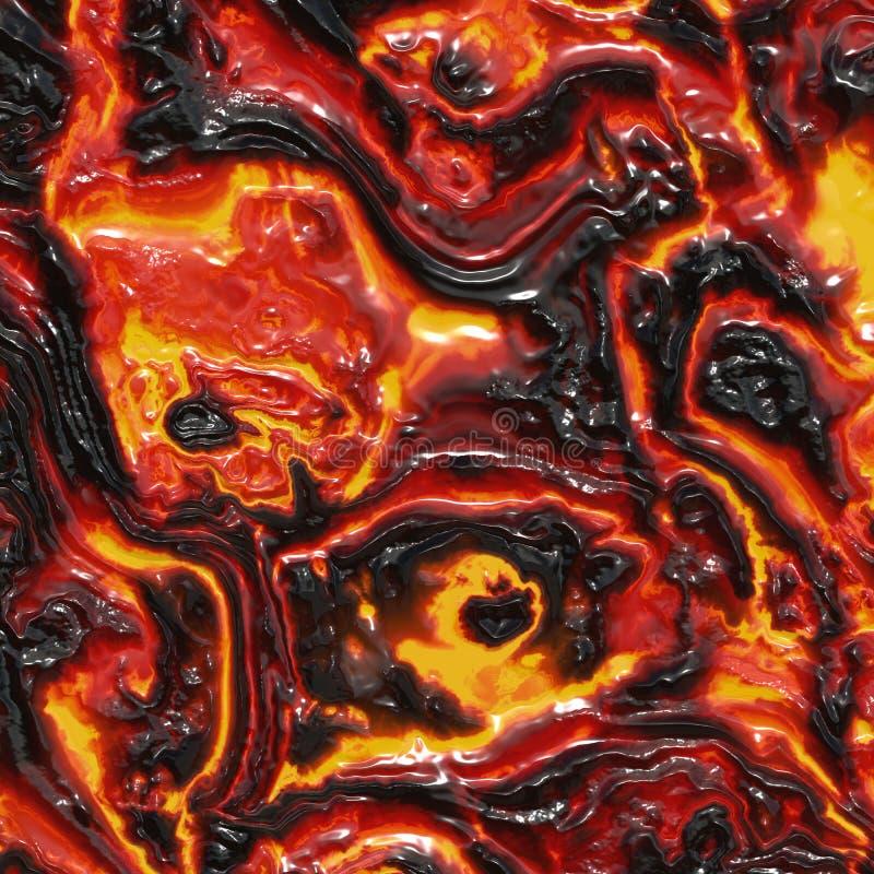 Gesmolten Lava stock afbeelding