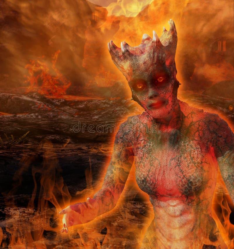 Gesmolten Lava Alien stock illustratie