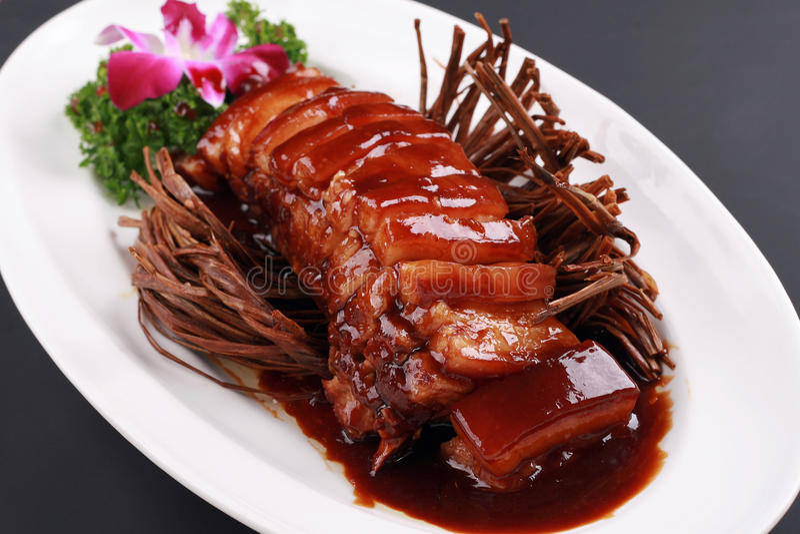 Gesmoord varkensvlees royalty-vrije stock foto's