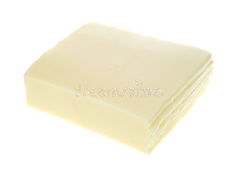 Gesneden Amerikaanse witte kaas stock foto