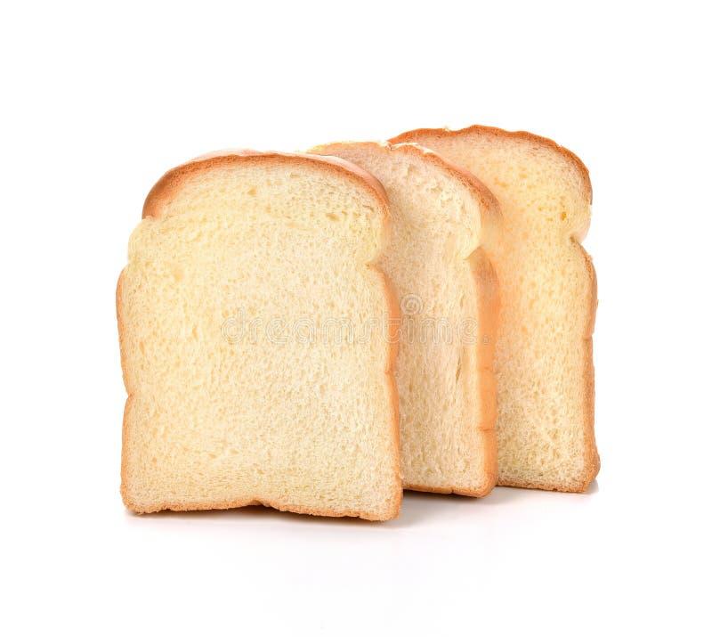 Gesneden brood op witte achtergrond royalty-vrije stock afbeelding