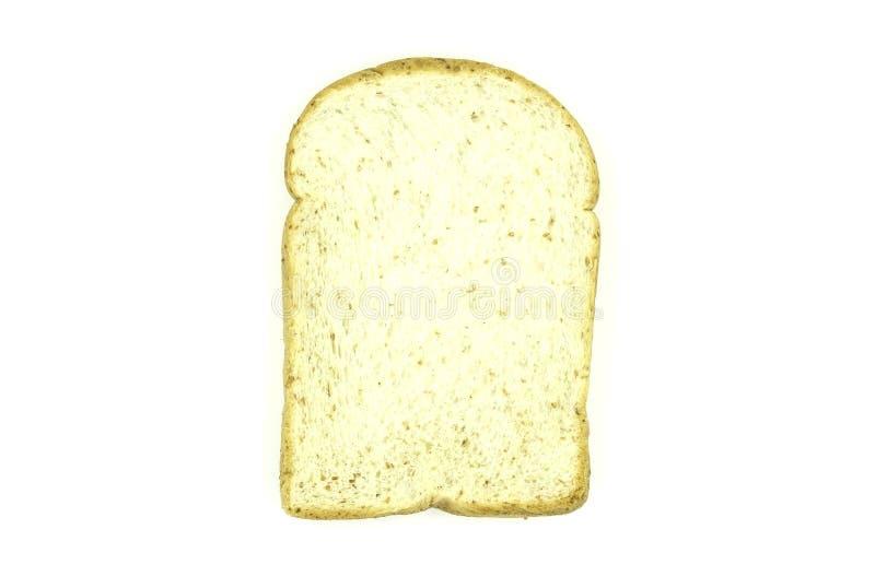 Gesneden brood op witte achtergrond van dossier met het Knippen van Weg royalty-vrije stock afbeelding