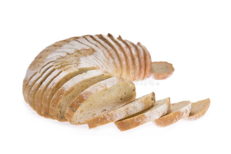Gesneden brood van aardappel en rozemarijnbrood stock afbeeldingen