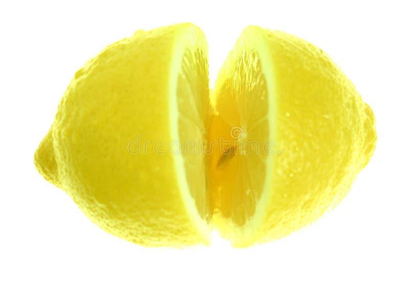 Gesneden citroen, royalty-vrije stock afbeeldingen