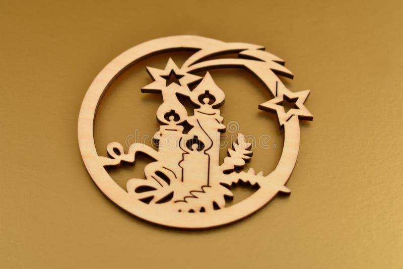 Gesneden de voorraadbeelden van de Kerstmisdecoratie royalty-vrije stock afbeelding