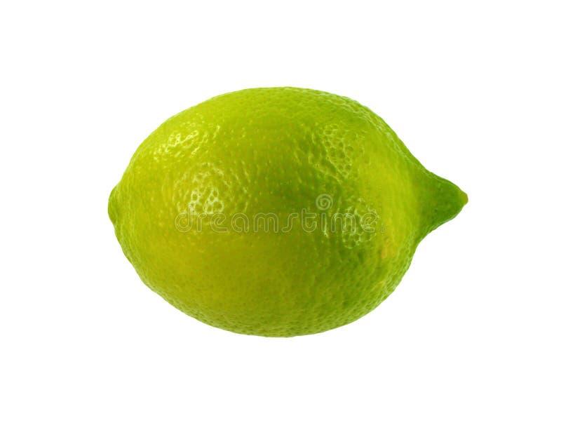 Gesneden die kalkfruit op witte achtergrond wordt geïsoleerd stock afbeelding