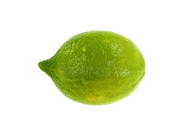 Gesneden die kalkfruit op witte achtergrond wordt geïsoleerd royalty-vrije stock afbeelding