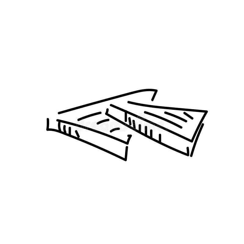 Gesneden die Toostbrood op witte achtergrond, hoogste mening wordt geïsoleerd stock illustratie