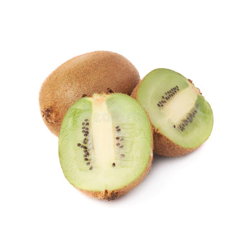 Gesneden en besnoeiings kiwifruit samenstelling stock foto's