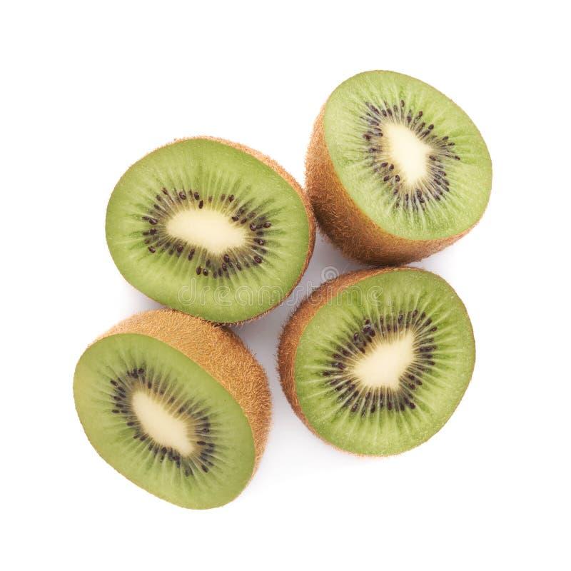 Gesneden en besnoeiings kiwifruit samenstelling royalty-vrije stock foto