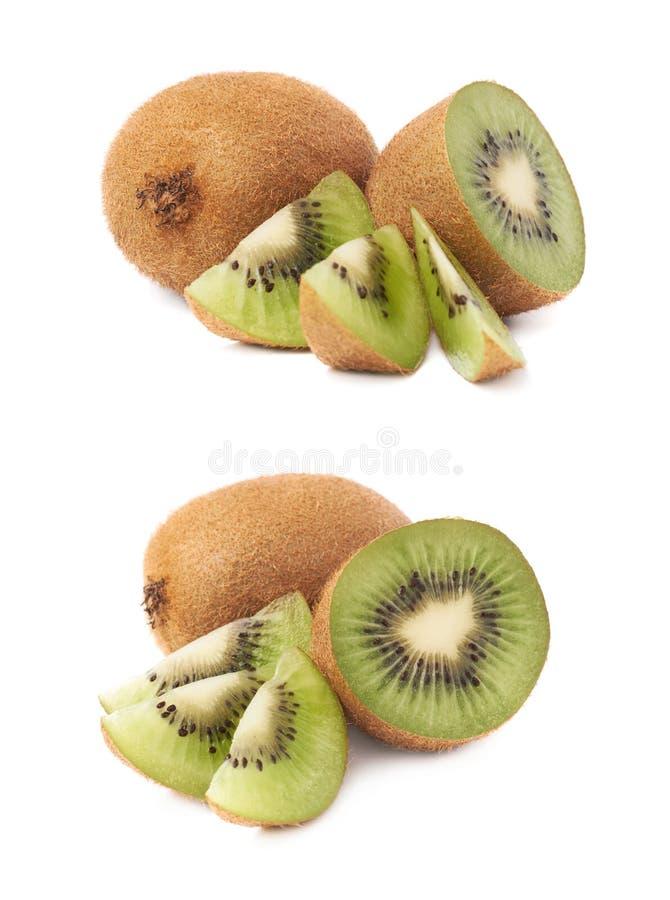 Gesneden en besnoeiings kiwifruit samenstelling stock foto