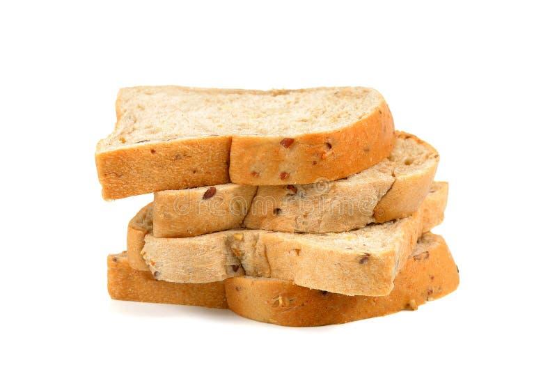 Gesneden geheel korrel multigrain brood stock afbeelding
