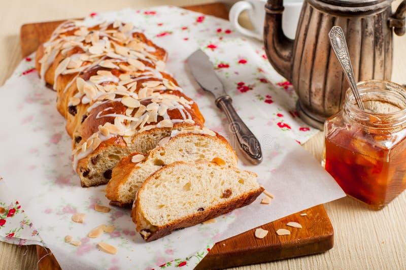 Gesneden Gevlecht Zoet Brood stock foto's
