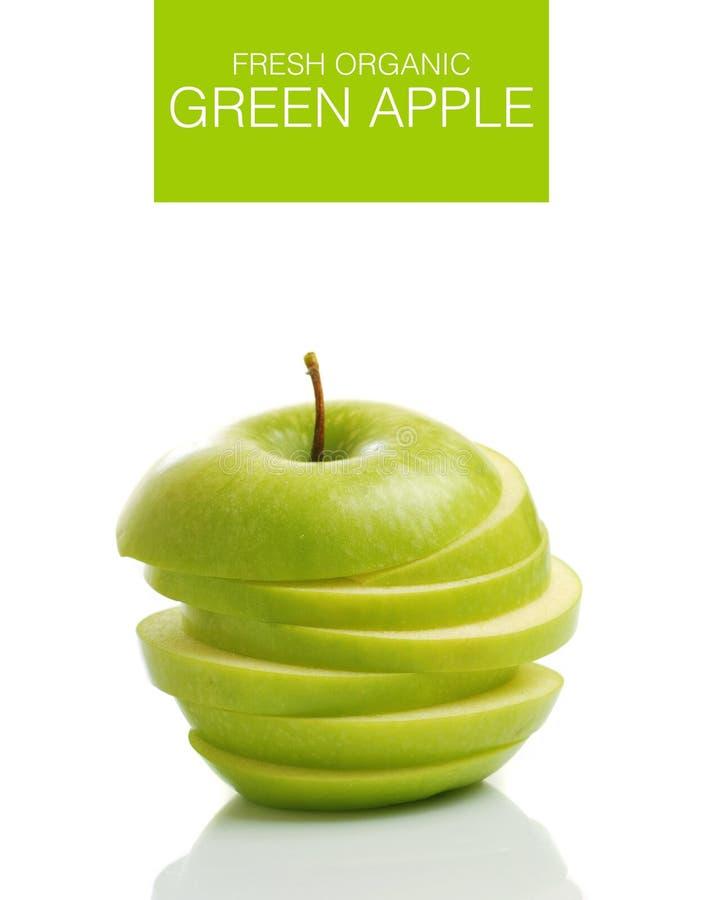 Gesneden groene appel stock afbeelding