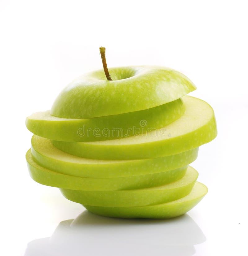 Gesneden groene appel stock foto