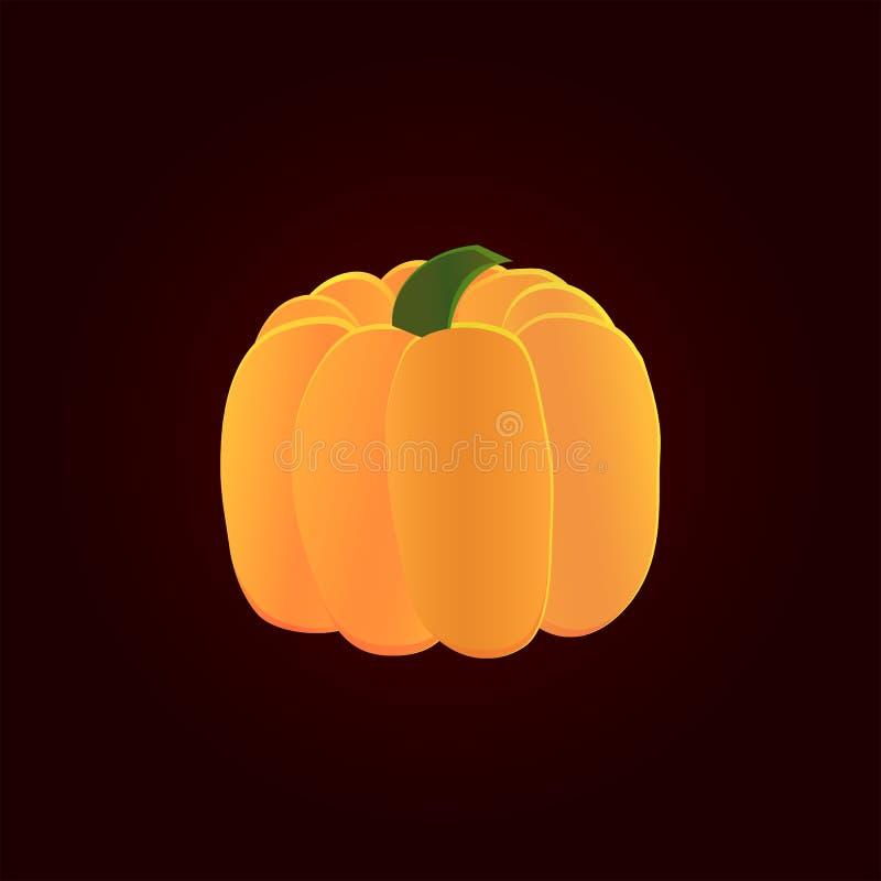Gesneden Halloween pompoen vector illustratie