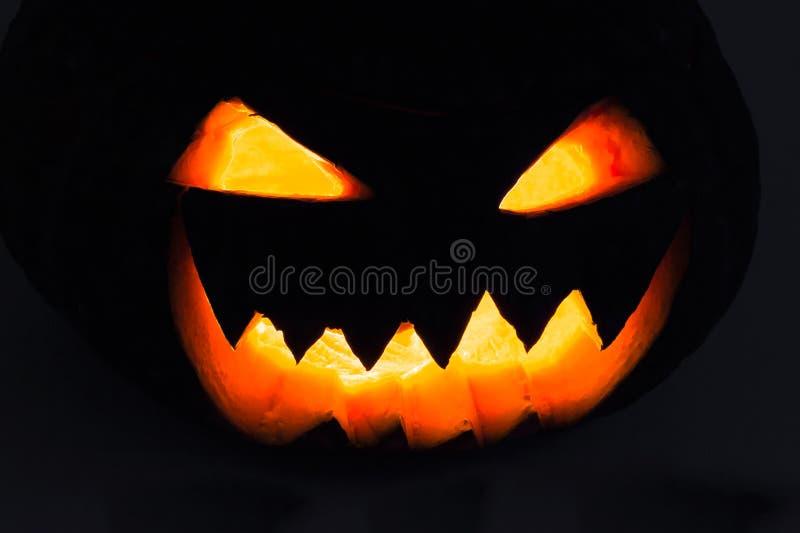 Gesneden Halloween pompoen royalty-vrije stock afbeeldingen