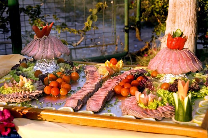 Gesneden het rundvlees van het braadstuk royalty-vrije stock afbeeldingen