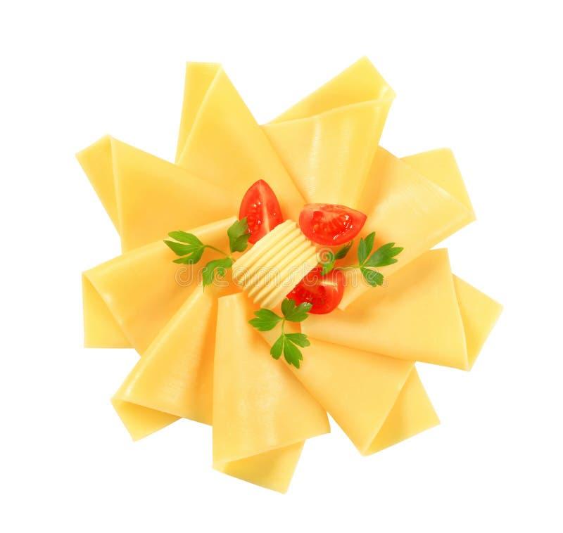 Gesneden kaas stock afbeelding