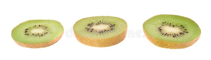 Gesneden kiwifruit geïsoleerde sectie royalty-vrije stock fotografie