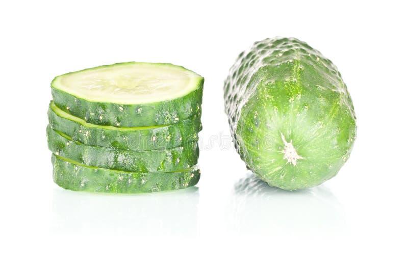 Gesneden Komkommer Stock Afbeelding