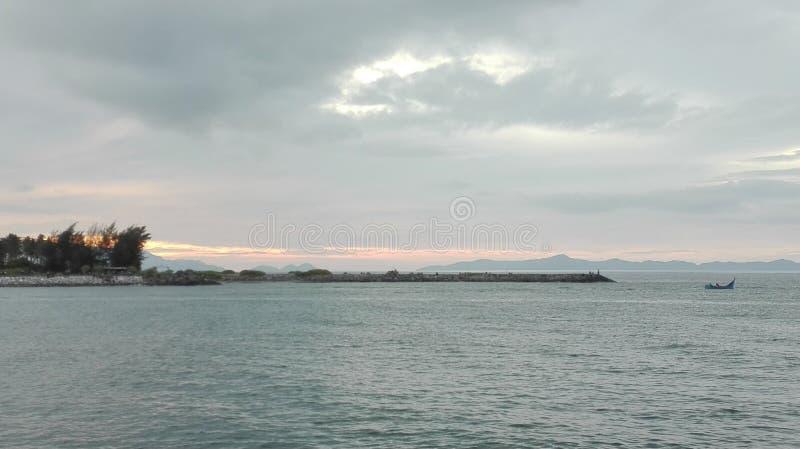 Gesneden Pantai krueng, aceh, Indonesië royalty-vrije stock afbeeldingen