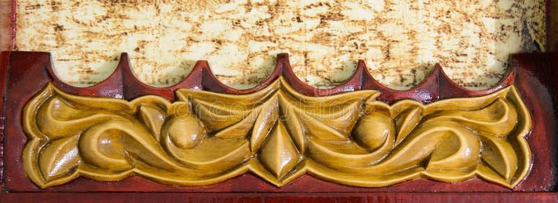 Gesneden patroon op hout royalty-vrije stock afbeeldingen