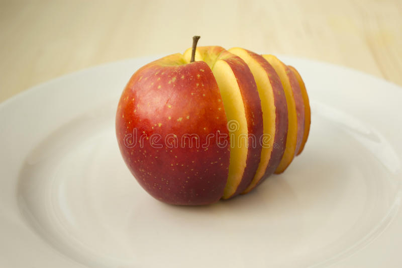 Gesneden Rode Appel royalty-vrije stock foto