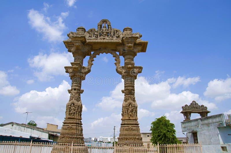 Gesneden ruïnes van Kirti Toran, Vadnagar, Gujarat royalty-vrije stock afbeelding