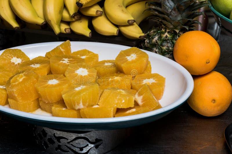 Gesneden Sinaasappel stock foto