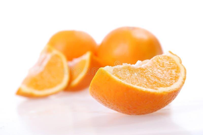 Gesneden sinaasappel royalty-vrije stock afbeeldingen