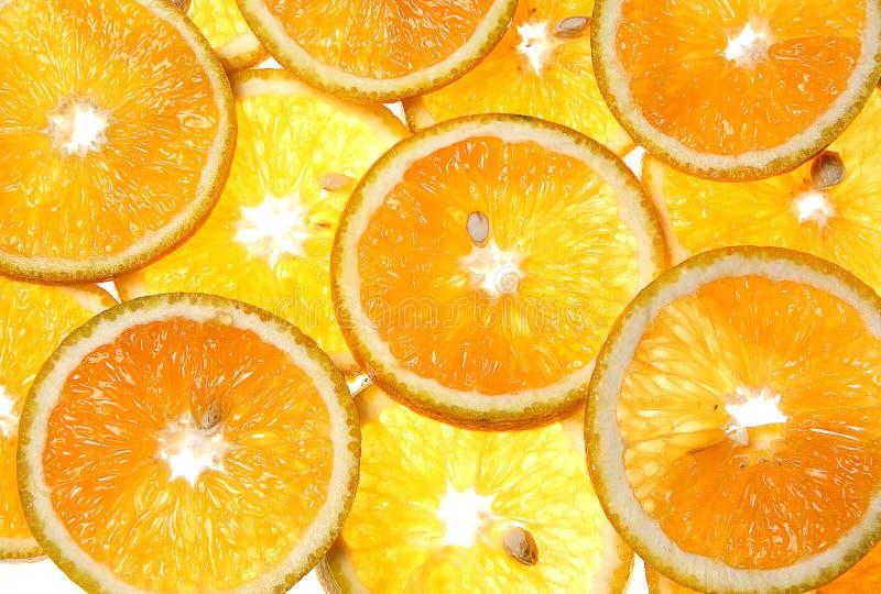 Gesneden sinaasappelen royalty-vrije stock afbeelding