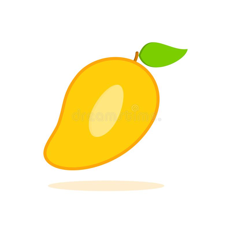 Gesneden stuk van mango stock illustratie